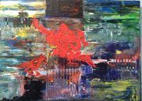Acrylmalerei, Spachtel, Malerei