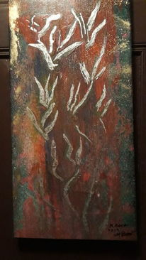 Blumen, Modern art, Abstrakt, Malerei