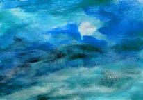 Blau, Natur, Landschaft, Malerei