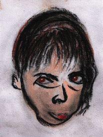 Böse, Gesicht, Portrait, Malerei