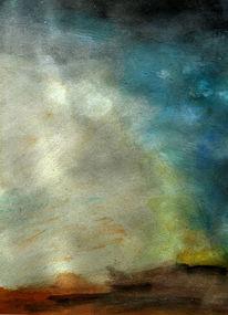 Landschaft, Himmel, Blau, Malerei