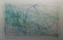 Formal, Blau, Abstrakt, Linie