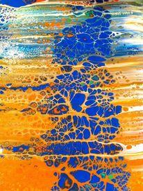 Gemälde, Abstrakt, Fluid painting, Malerei