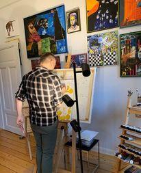 Malerei, Ölmalerei, Garn, Acrylmalerei