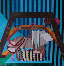 Acrylmalerei, Ölmalerei, Garn, Mischtechnik