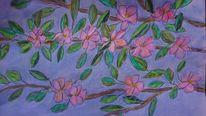 Kirschblüten, Pastellmalerei, Mischtechnik,