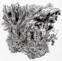 Tor, Verwachsen, Baum, Fantasie