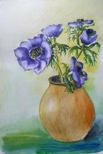 Anemonen, Pflanzen, Vase, Blumen