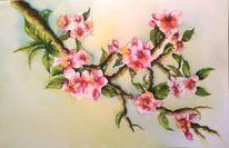 Baum, Blüte, Aquarellmalerei, Natur