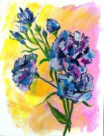 Blau, Sommer, Gelb, Acrylmalerei