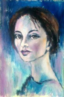 Porträtmalerei, Ausdruck, Acrylmalerei, Rot