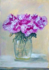 Blumenstrauß, Acrylmalerei, Vase, Blumen