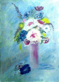 Obst, Aquarellmalerei, Flasche, Glas