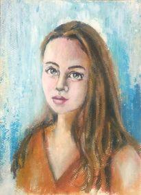 Acrylmalerei, Spachteltechnik, Frau, Porträtmalerei