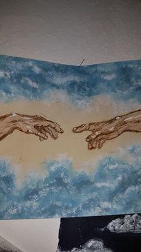 Acrylpainting, Ölmalerei, Nachempfunden, Michelangelo