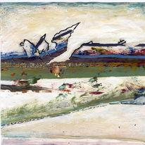 Landschaft, Expressionismus, Acrylmalerei, Emotion
