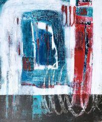 Modern, Modern art, Abstrakt, Acrylmalerei