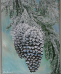 Acrylmalerei, Blau, Modern art, Wandbild