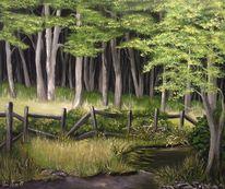 Modern, Modern art, Acrylmalerei, Baum