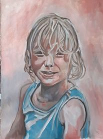 Mädchen, Portrait, Malerei