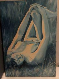 Akt, Ölmalerei, Pose, Frau
