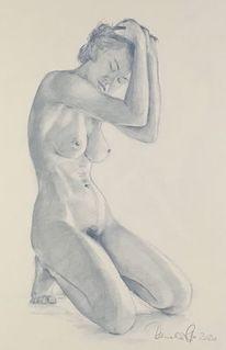 Menschen, Zeichnen, Frau, Sommer