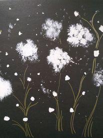 Weiß, Schwarz, Pflanzen, Illustrationen