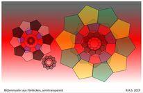 Fünfecke, Blüte, Konkrete kunst, Digitale kunst