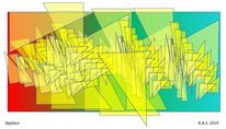 Gelbe dreiecke, Mathematik, Konkrete kunst, Digitale kunst