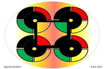 Gestaltung, Konkrete kunst, Logisches emblem, Digitale kunst