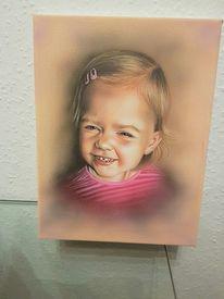 Portrait, Airbrush, Kinder, Acrylmalerei