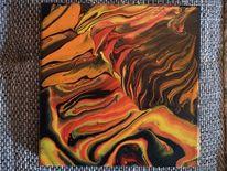 Acrylmalerei, Abstrakt, Farben, Mischtechnik