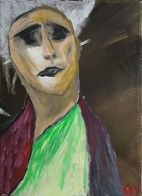 Malerei, Gesicht, Acrylmalerei, Farben