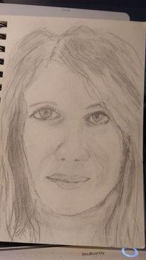 Bleistiftzeichnung, Frau, Tochter, Zeichnungen