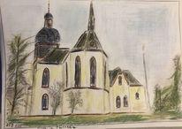 Skizze, Kirche, Gaulsheim, Zeichnungen