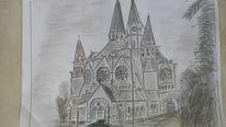 Skizze, Ringkirche, Wiesbaden, Zeichnungen