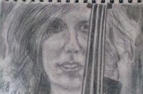Skizze, Bleistiftzeichnung, Violine, Zeichnungen