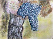 Wein herbst, Aquarellmalerei, Malerei,
