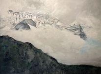 Nebel, Acrylmalerei, Berge, Malerei
