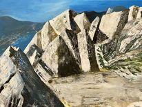 Felsen, Acrylmalerei, Berge, Malerei