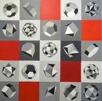 Geometrie, Formen, Acrylmalerei, Malerei