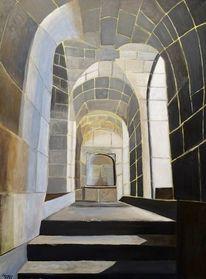 Gewölbe, Architektur, Acrylmalerei, Malerei