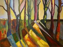 Licht, Acrylmalerei, Baum, Malerei