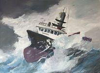 Wasser, Acrylmalerei, Sturm, Malerei