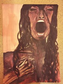 Acrylmalerei, Menschen, Expressionismus, Aquarell