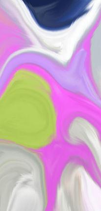 Rose, Violett, Grün, Digitale kunst