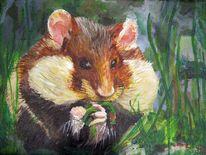 Hamster, Acrylmalerei, Tiere, Malerei