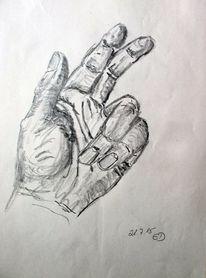 Bleistiftzeichnung, Anatomie, Hand, Zeichnungen