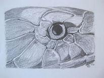 Schlange, Bleistiftzeichnung, Tiere, Zeichnungen