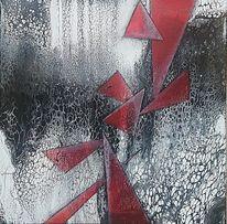 Gemälde, Acrylmalerei, Schwarz, Weiß